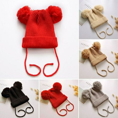 Pompom Baby Winter Hat For Kids Beanie Cap Knitted Warm Girl Toddler Bonnet