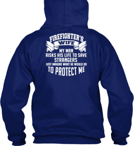Firefighters Wife Eu Firefighter/'s My Man Risks His Standard College Hoodie