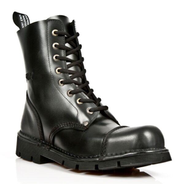 Newrock New Rock newmili083-s1 Militar Negro Negro Negro Biker Unisex 8 agujero botas góticas  ahorre 60% de descuento