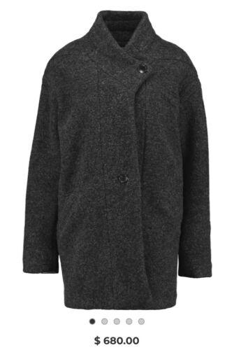 IRO wool blend cocoon coat