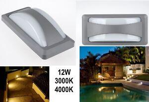 Plafoniera Da Esterno Con Doppia Lampada : Plafoniera stagna applique da esterno doppia luce acciaio vetro