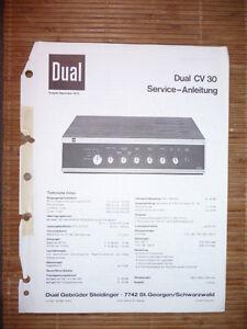 Tv, Video & Audio Service Manual Für Dual Cv 30 Verstärker,original