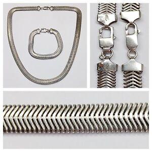 Fine Jewelry Sets Independent Silberset 925er Argent Bracelet En Collier Bijoux Chaîne Comme Neuf