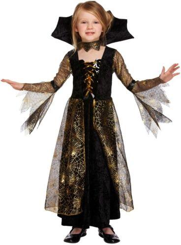 Le Ragazze Spiderella Vampiro Halloween Costume Bambini Bambino VESTITO Party