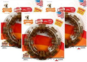 3-Pack-Nylabone-Dura-Chew-Flavor-Medley-Textured-Treat-Ring-For-Dogs-50-lbs
