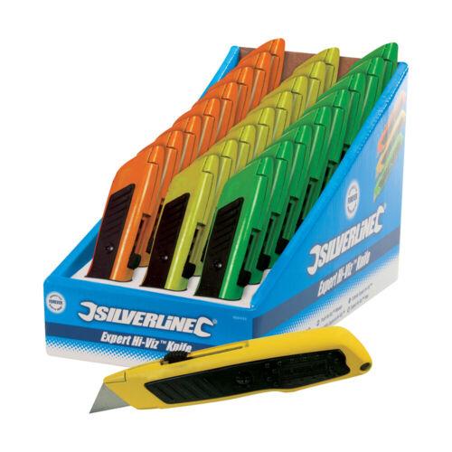 Silverline PROFESSIONNEL-COUTEAU UNIVERSEL en signal couleurs 24er Pack