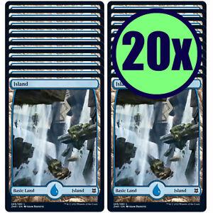 20x ISLAND 269 Full Art Basic Land NM/LP MTG Magic the Gathering Zendikar Rising