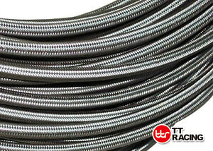 AN-8-8AN-7-16-034-10mm-Braided-Stainless-Steel-Fuel-Oil-Gas-Hose-Pipe-5ft
