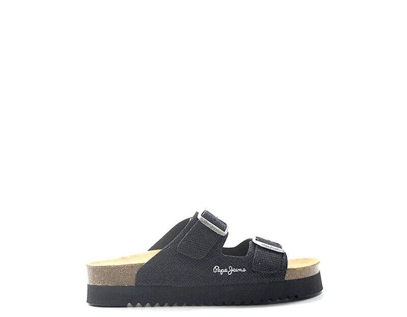Pepe jeans women's shoes black pu pls90327-999n