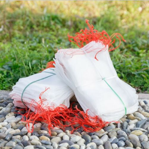 100 Pcs Birds Insect Garden Nylon Net Bags W//Drawstring Plant Fruit Protection