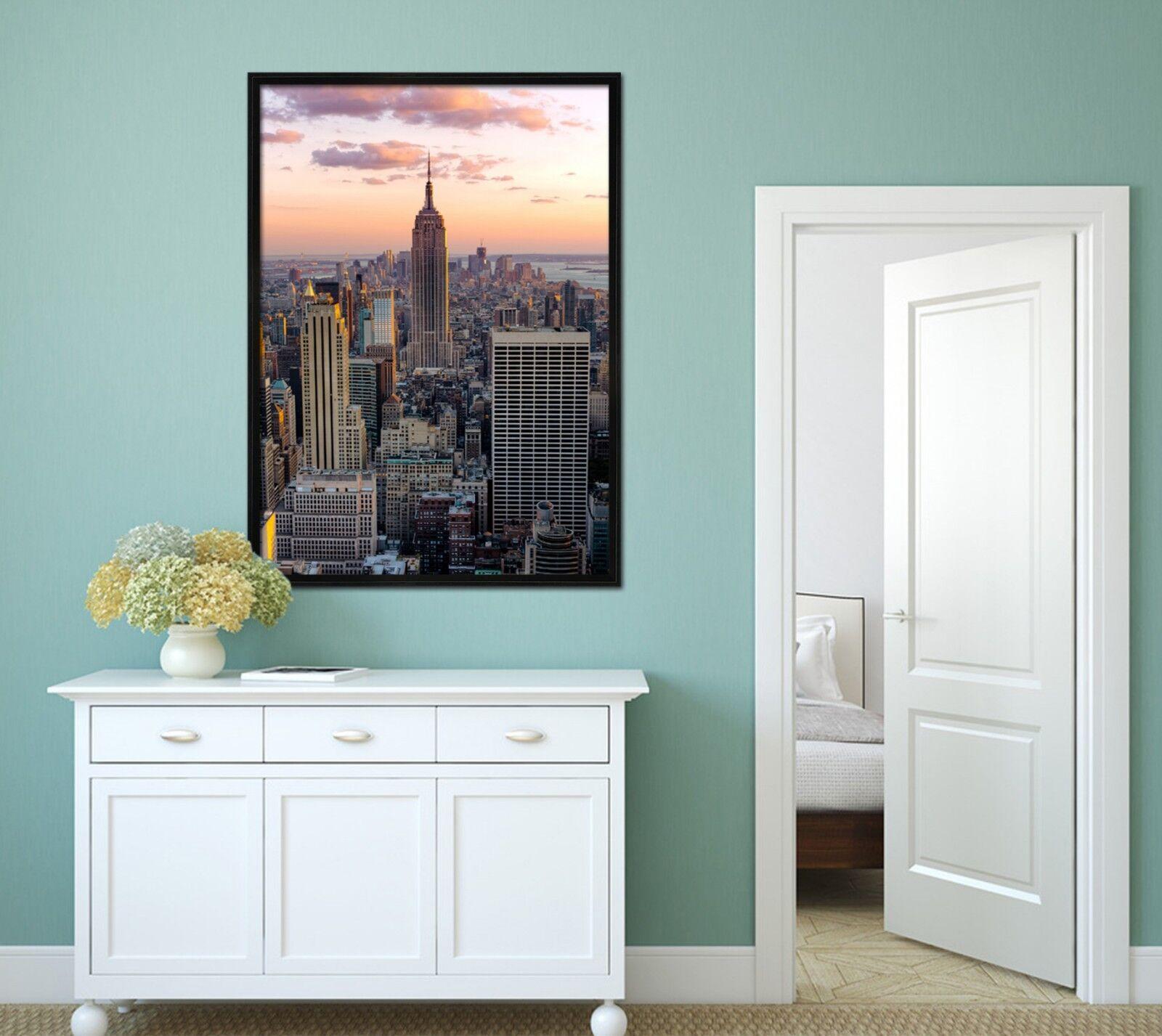 3D Skyscraper Building 2 Framed Poster Home Decor Print Painting Art WALLPAPER