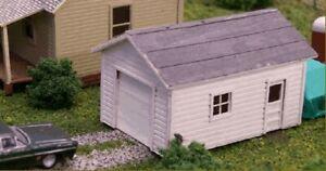 Blair-Line-173-One-Car-Garage-Einzelgarage-H0-1-87-Laser-Cut-Holz-Bausatz