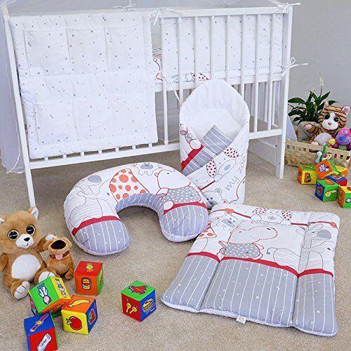 BABY BEDDING SET 3 18 pcs COT MATTRESS QUILT DUVET PILLOW CASE COVER 120x60 10