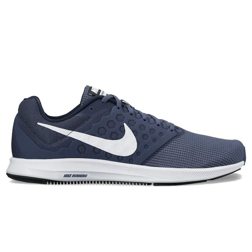NEW MEN'S NIKE DOWNSHIFTER 7 RUNNING SHOES  IN NAVY blueE AND WHITE