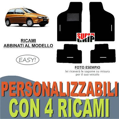 4 RICAMI EASY TAPPETINI AUTO SU MISURA PER CITROEN DS4 MOQUETTE E FONDO GOMMA