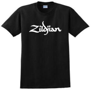 Zildjian-cymbales-Logo-T-shirt-Drums-Band-Shirt-Drole-Pearl-Sabian-zilgan-Music
