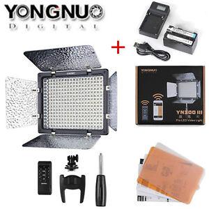 YONGNUO YN300 III 5000K LED Video Light For SLR Camera  +NP F750 battery Lot LN
