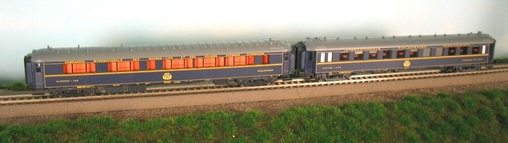 LS Models 99101 Set 2x CIWL VAGONE LETTO Type S + Y BLU NS + DB ep4 M Emblema NUOVO + OVP