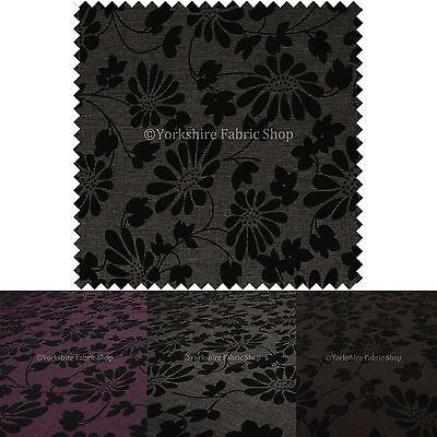 Motivo Floreale In Rilievo Sollevato Ciniglia Tappezzeria Cuscini Curtain Fabric-mostra Il Titolo Originale