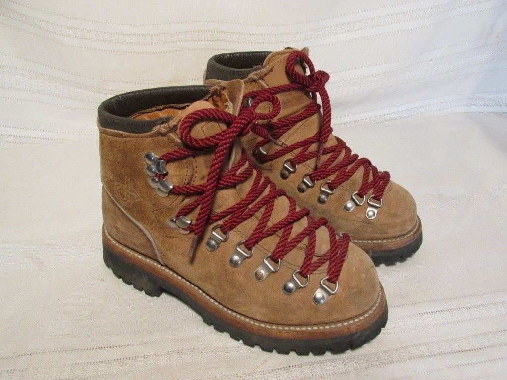 E1631 Dexter Hiking Light Brown Lace Up Vintage Boots Men's 6M