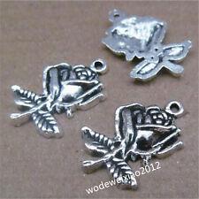 10pc Tibetan Silver snail Charm Pendant accessories Beads wholesale PL165