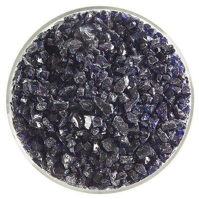 Bullseye COE 90 Kiln Fusing Glass Frit~  2oz Midnight Blue Transparent (118)
