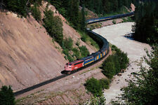 578028 CP FP 7 1424 Leads VIA Train 1 The Canadian Westbound A4 Photo Print