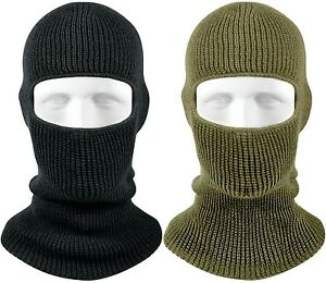 Winter Face Mask Warm Cold Weather One Hole Facemask OD Black Ski ... ca810d586572