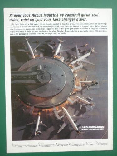9//1993 PUB AVION AIRBUS AIRLINER A320 A300 A310 A319 AEROGARE AEROPORT FRENCH AD
