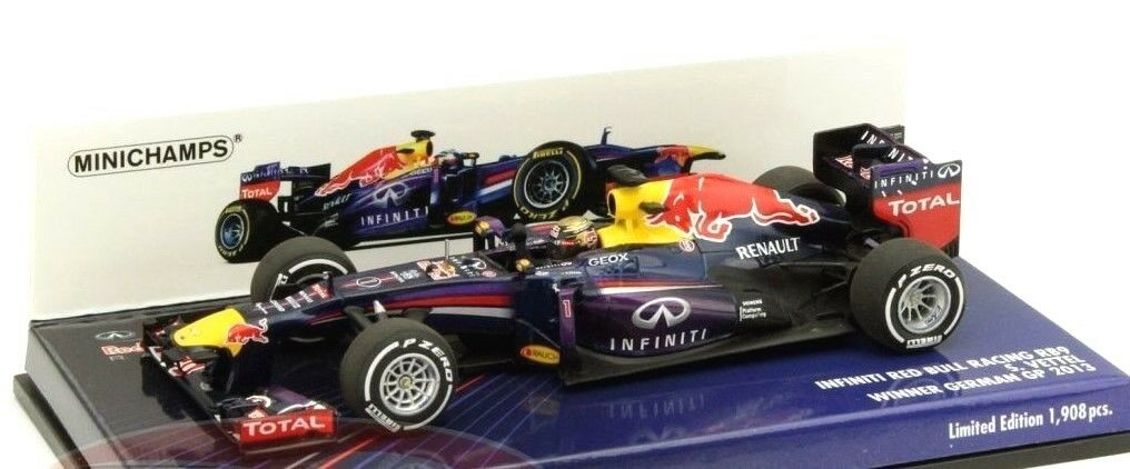Minichamps 1 43 Infiniti rosso Bull RENAULT Rb9 S.Vettel Ganador German Gp 2013