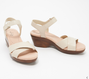 Clarks Collection Leather Cross-Strap