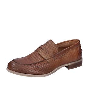 Marron Mocassins Cuir Eu Homme Chaussures 43 En Bt851 43 Ossiani qnwO6x0R