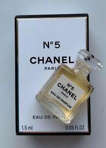 ffb24102 Details about CHANEL No 5 eau de parfum miniature 1.5 ml NEW mini micro  bottle BNIB VIP GIFT
