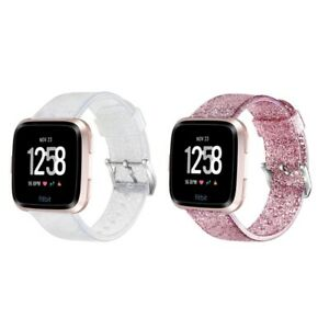 Youth-For-Fitbit-Versa-Lite-Versa-Watch-Band-Silicone-Glitter-Wrist-Bracelet