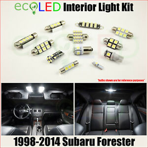 Fits-1998-2014-Subaru-Forester-WHITE-LED-Interior-Light-Package-Kit-6-Bulbs