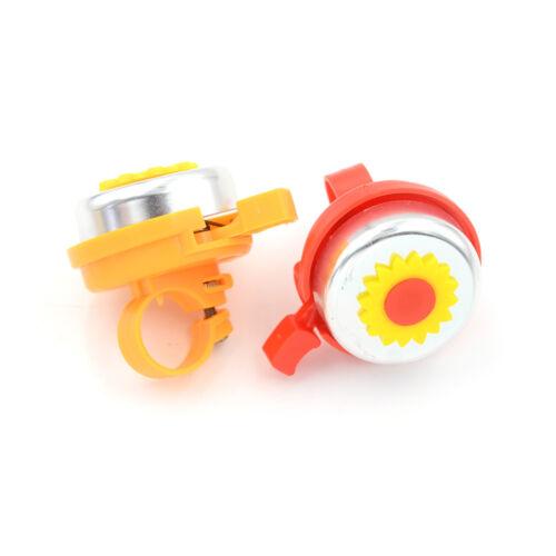 1Pcs bike bicycle bell ring round flower plastic metal sound alarmJBB/&s