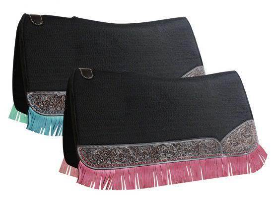 Showman   32  long x  31  wide Fringe saddle pad  more affordable
