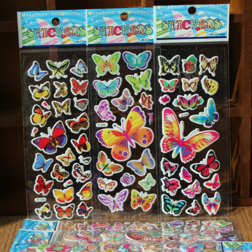 5 sheets butterfly stickers party favours lolly loot bag fillers