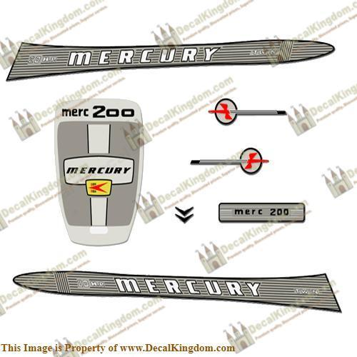 Mercury 1963 20HP Outboard Engine Decals