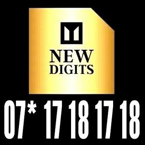 Oro VIP Platino Diamante Premium número de teléfono móvil tarjeta Sim 17 18 17 18