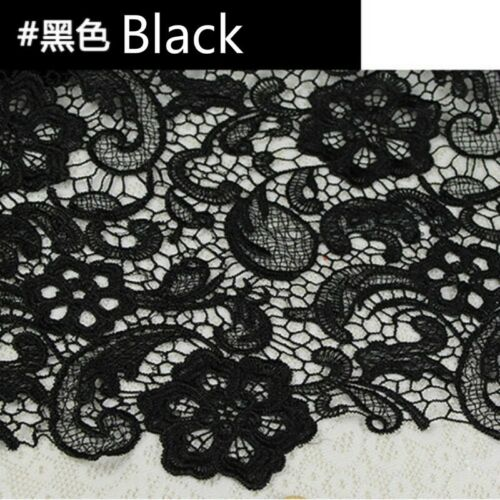 Guipure Lace Fabric Floral Crochet Embroidery Hollow Out Bridal Dress Craft Trim