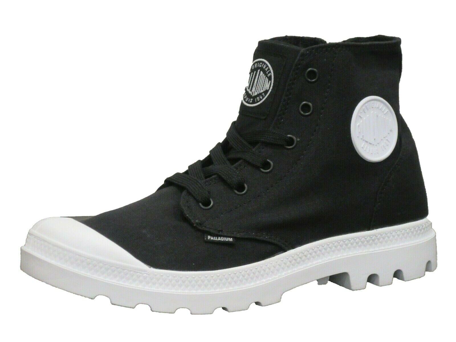 Palladium  white Hi Zipper Black Boots