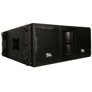 Seismic-Audio-Passive-2x10-Line-Array-Speaker-with-Dual-Compression-Drivers