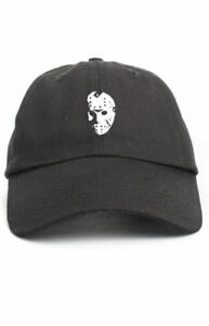 Details about Jason Voorhees Friday The 13th Black Unstructured Baseball Dad  Hat Cap New e860d662a0a