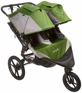Details About Baby Jogger 2016 Summit X3 Double Stroller Green Grey New