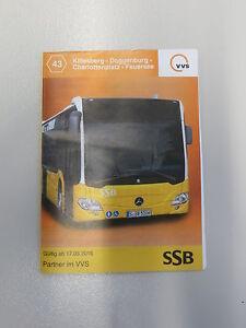 Fahrplan VVS SSB Stuttgart Bus 43 Killesberg - Feuersee von 2016 - Deutschland - Fahrplan VVS SSB Stuttgart Bus 43 Killesberg - Feuersee von 2016 - Deutschland