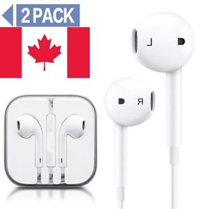 Earphones-Headphones-for-iPhone-4-5-6-or-6S-Pad-Pod-with-mic-control-CA-STOCK
