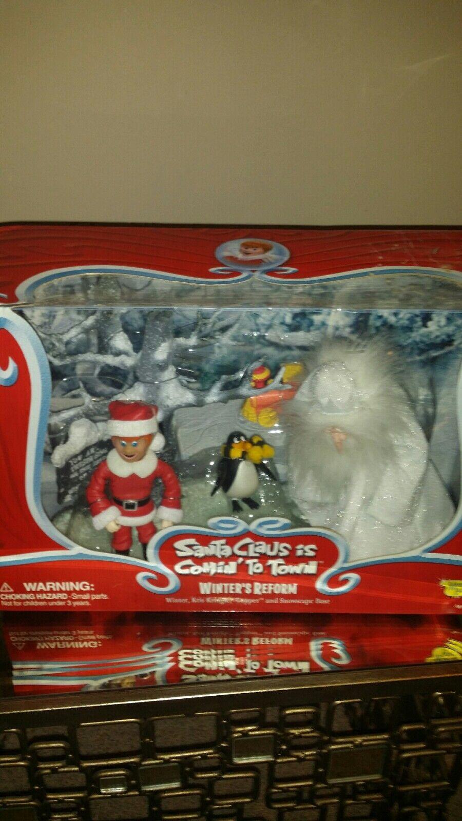 Memory Lane Santa Claus Is Comin Coming To Town Winter's Reform NIB