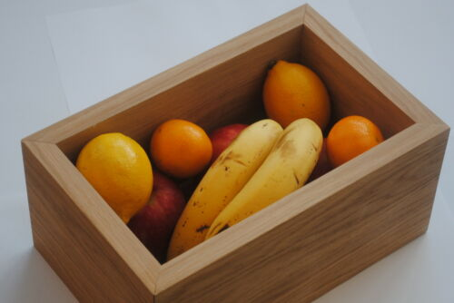 Oak veneer fruit bowl