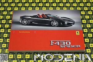 Betriebsanleitung-Handbuch-Bordbuch-Owners-Manual-Book-Ferrari-F430-430-Spider